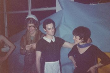 Fancy Dress Party at the College 26/1/1980 - Colin Garvey, Mick O'Brian and an unsuspecting young girl....who's who?