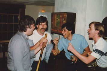 COXA Suffolk Cricket Tour 1983. Tour song 'You can't hurry love' in the pub we adopted.