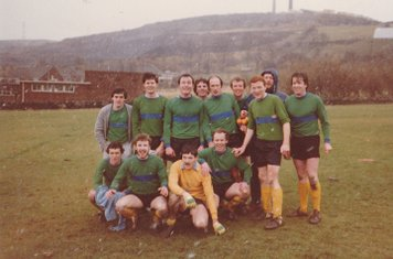 COXA Football Tour to Ilkley April 1st - 4th 1983. 1st Team in first game (including Jim 'Make My Tour' Thornton).