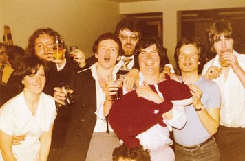 End of the evening at the COXA Football Section Dinner held at the College on 21/5/1977.
