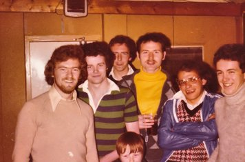 The old clubhouse at Norbury with a young Gary McGuire. – 6.5.1978