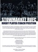 Stowmarket are recruiting