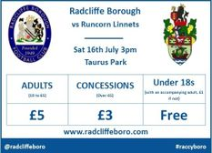 Runcorn Linnnets 16th July - Ticket News