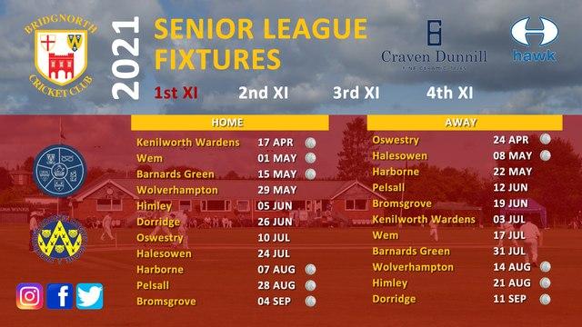 2021 Senior League fixtures out now!