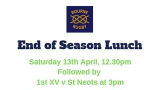 End of Season Lunch