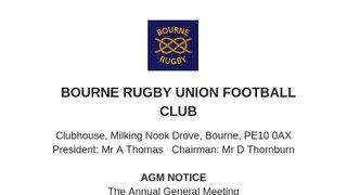 Bourne Rugby Club AGM