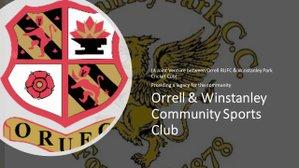 Orrell & Winstanley Community Sports Club Annual General Meeting - 4 February 2019
