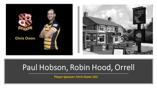 The Robin Hood joins our band of merry men as player sponsor for Chris Owen