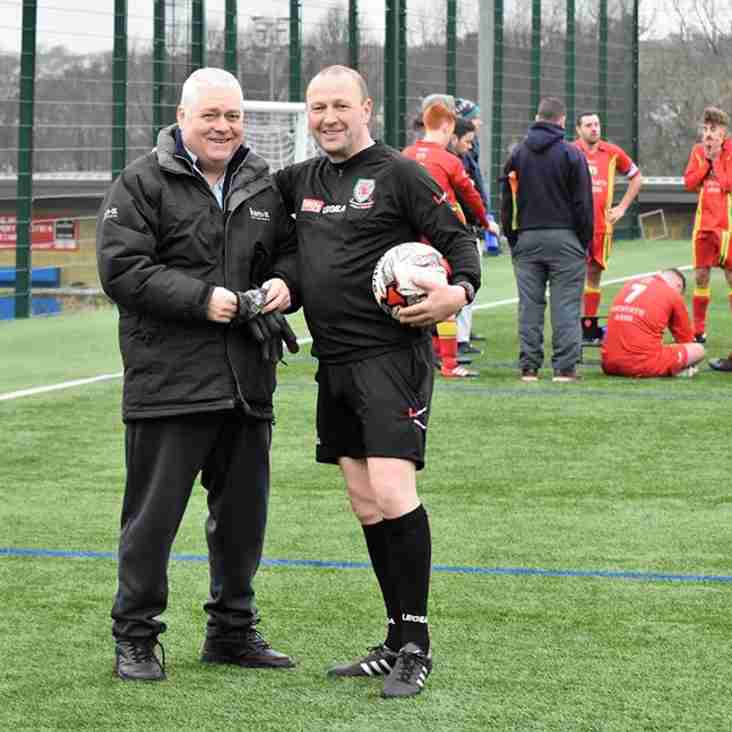 N W C F A President at Anglesey League Match