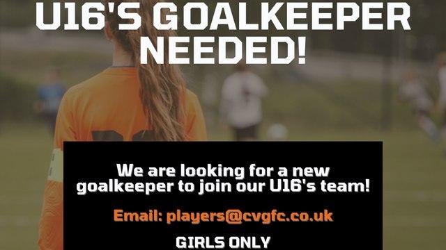 Goalkeeper needed u16s