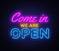 We Are Open!! Saturday 4th July 2020