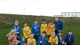 U9's win runners-up medals