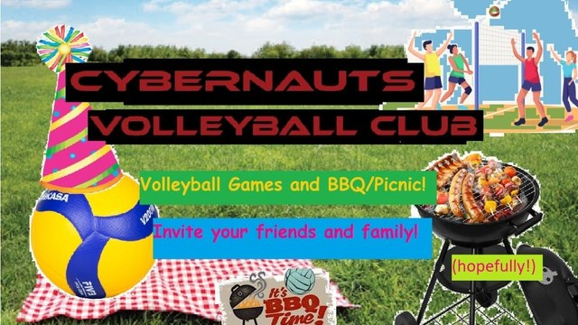 Cybernauts Summer Fun Volleyball Games and Food!