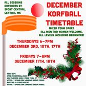 December 2020 Korfball Schedule Confirmed - We're Back!