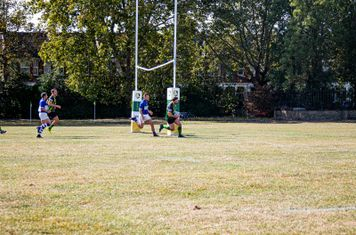 Portsmouth dots down for his second try for Finsbury Park