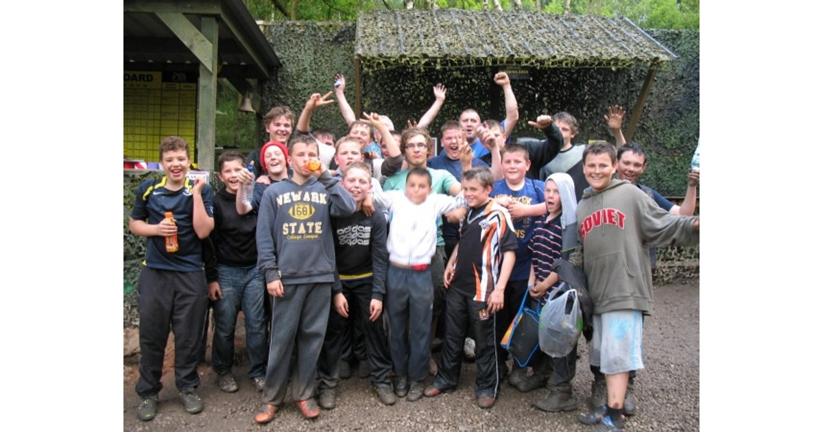 U12's At The Delta Force Paintball Day