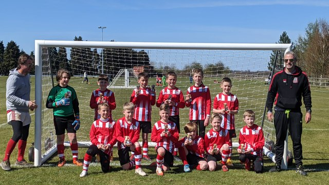 U10's Whites Over the Moon with cup win