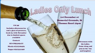 Ladies Only Lunch - well Afternoon Tea!