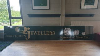 Sponsor boards arrive for new pitch