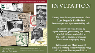 We're all invited to The North Mayo Heritage Centre on Friday