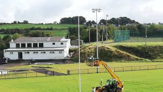 A special day as goalposts go up on new pitch