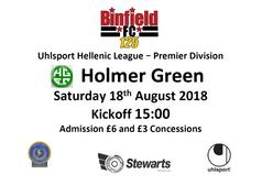 Binfield vs Holmer Green