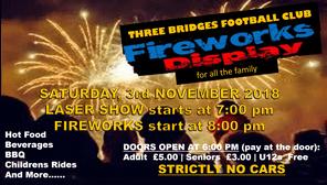 Fireworks Display... Saturday 3rd November