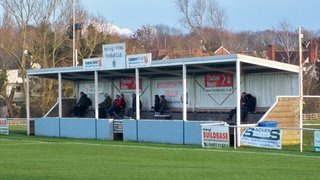 Blues in action at Hadleigh United tonight