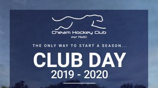 Club Day Tickets Now Available