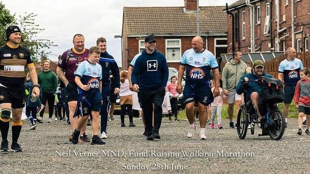 Neil Verner MND sponsored walk