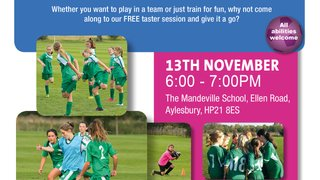 Girls' Football Taster Session November 2018