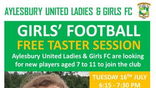 Girls' Football Taster Session July 2019