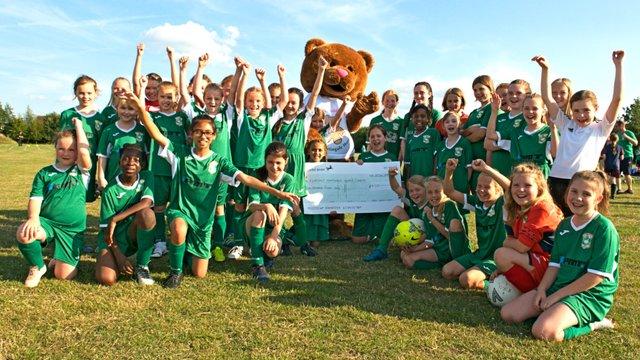 Aylesbury United Ladies & Girls score for Hospice