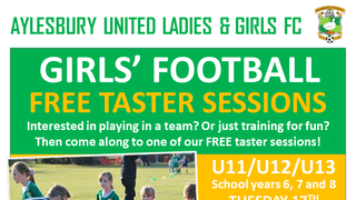Girls' Football Taster Sessions September 2019