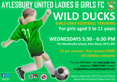 Wild Ducks   Girls-only football training for ages 5 to 11 years
