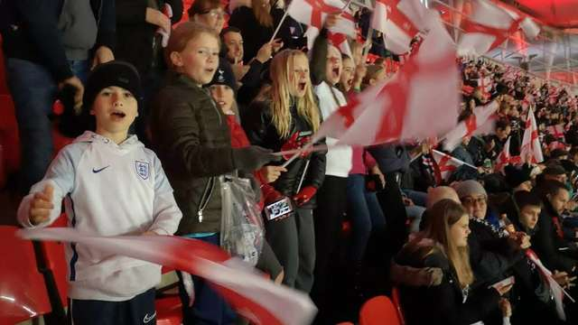 Ducks enjoy watching Lionesses at Wembley