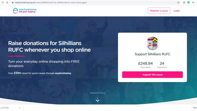 Support Silhillians RUFC with Easyfundraising