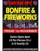Grove RFC Bonfire & Fireworks