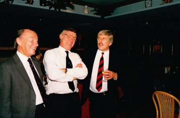 Two Presidents and Two Chairman circa 1986