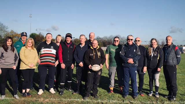 Bob & Ros Sulley Try Out Walking Rugby @ Hinckley RFC