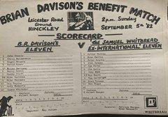 HTCC Archive - Brian Davison's Benefit Match