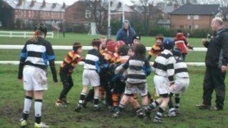 Under-10's slip up in the mud