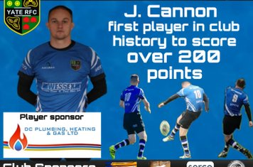 19 points against Cleve took Cannon over  200 points for the club