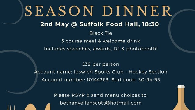 End of Season Dinner 2020