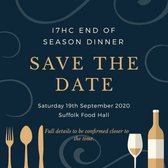 End of Season Dinner - Save the date!