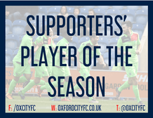 Supporters' Player of the Season - 2018/19