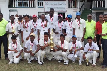 GEORGETOWN CRICKET CLUB - NBS CHAMPIONS 2013 WITH REPS OF NBS