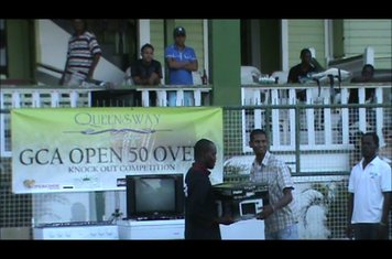 TRAVIS DOWLIN COLLECTS A MICROWAVE - QUEENSWAY CUP 2011