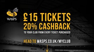 Support your Club when buying Wasps tickets