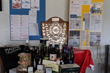 A selection of the raffle prizes and auction lots